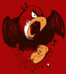 scared pig t shirt Angry Birds Psychologist Scared Pig T Shirt
