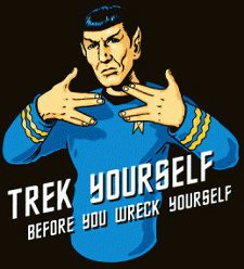 ee561392 spock trek yourself before you wreck yourself t shirt Star Trek Spock Treck  Yourself Before You ...