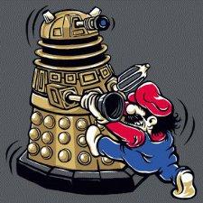 super mario dalek thats mine t shirt Dr. Who Super Mario Brothers Thats Mine Dalek T Shirt