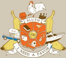 bluth i need a favor t shirt Arrested Development I Need a Favor Bluth Crest T Shirt