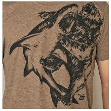 shark vs bear t shirt Shark Versus Bear T Shirt