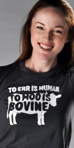 too err is human to moo is bovine t shirt Too Err is Human To Moo is Bovine T Shirt