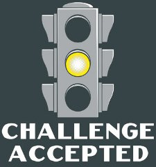 yellow light challenge accepted t shirt Yellow Light Challenge Accepted T Shirt