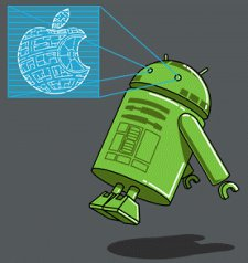 android r2d2 apple t shirt Star Wars Apple Android R2D2 T Shirt
