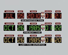 back to the future time machine read out t shirt Back to the Future Delorean Dashboard T Shirt