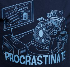 dalek procrastinate t shirt Dr. Who Dalek Procrastinate T Shirt