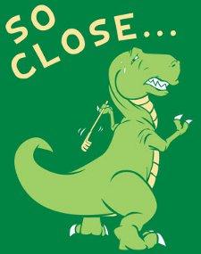 dinosaur back scratcher so close t shirt T Rex Back Scratcher So Close T Shirt