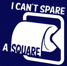 i cant spare a square t shirt Seinfeld Toilet Paper I Cant Spare a Square T Shirt
