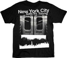 new york city eats its young t shirt How to Make it In America New York City Eats Its Young T Shirt