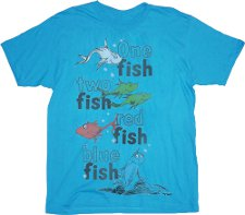 one fish two fish red fish blue fish t shirt Dr. Suess One Fish Two Fish Red Fish Blue Fish T Shirt