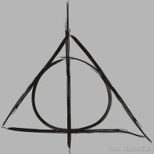 deathly hallows t shirt1 Harry Potter Symbol Deathly Hallows T Shirt