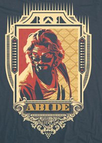 dude abide t shirt The Big Lebowski T Shirts Abide