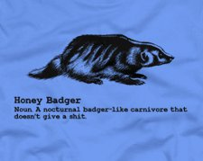 honey badger definition t shirt Honey Badger T Shirts