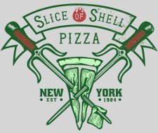 slice of shell pizza t shirt Teenage Mutant Ninja Turtles Slice of Shell Pizza T Shirt