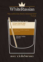 white russian t shirt The Big Lebowski T Shirts Abide
