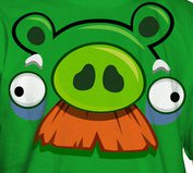 angry birds pig moustache t shirt Pig Moustache Angry Birds T Shirt