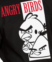 angry birds scarface Scarface Angry Birds T Shirt