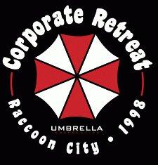 corporate retreat 1998 t shirt Resident Evil Corporate Retreat Umbrella Corporation T Shirt