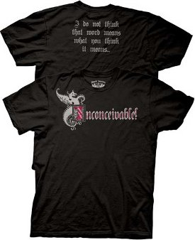 inconceivable t shirt The Princess Bride Inconceivable Black T shirt