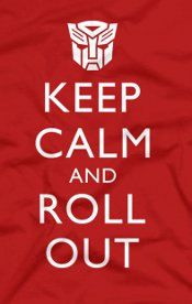 keep calm and roll out t shirt British Poster Optimus Prime Keep Calm and Roll Out T Shirt