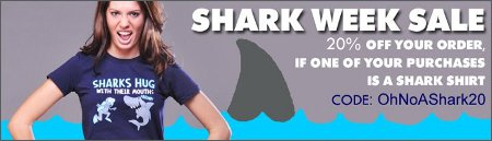 shark week sale snorg tees Snorg Tees Shark Week Sale 20% Off