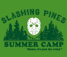 slashing pines summer camp t shirt Friday the 13th Slashing Pines Summer Camp T Shirt