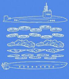 sub sandwich t shirt Submarine Sandwich SS Italiano T Shirt