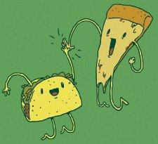 taco pizza t shirt Pizza Taco High Five T Shirt