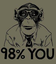 98 percent you t shirt 98 Percent Monkey T Shirt