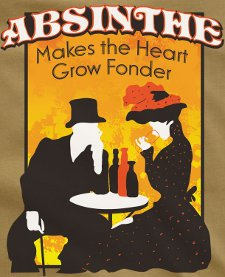 absinthe makes the heart grow fonder t shirt Absinthe Makes the Heart Grow Fonder T Shirt