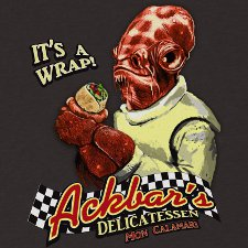 ackbars delicatessen its a wrap t shirt Star Wars Ackbar Delicatessen Its a Wrap T Shirt