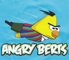 angry berts t shirt Sesame Street Angry Birds Angry Berts T Shirt