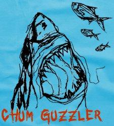 chum guzzler t shirt Shark Chum Guzzler T Shirt