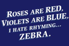 hate rhyming zebra t shirt Roses Are Red Violets Are Blue, I Hate Rhyming...Zebra T Shirt