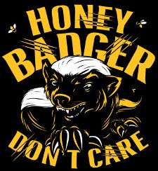 honey badger dont care t shirt Honey Badger T Shirts