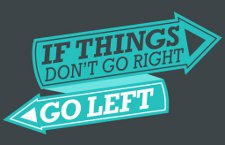 if things dont go right go left t shirt If Things Dont Go Right, Go Left T Shirt