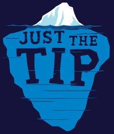 just the tip t shirt Wedding Crashers Iceberg Just the Tip T Shirt