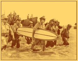 macarthur returns t shirt Battle of Leyte General Macarthur Returns With a Surfboard T Shirt