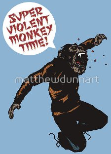 super violent monkey time t shirt Super Violent Monkey T Shirt