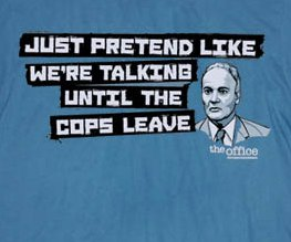 the office just pretend like were talking until the cops leave t shirt1 The Office Creed Bratton Just Pretend Like Were Talking Until the Cops Leave T Shirt