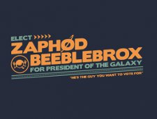 elect zaphod beeblebrox t shirt Hitchhikers Guide to the Galaxy Vote for Zaphod Beeblebrox T Shirt
