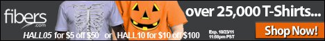 halloween promotion Fibers Halloween Coupon Code