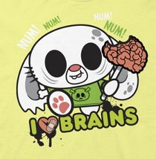 i heart brains bunny t shirt Ohiya The Art of Being Stinkin Cute