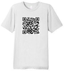rick rolled QR code t shirt Shop Review: Fibers Goes Beyond Keeping You Regular