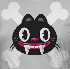 skull and crossbones cat t shirt Ohiya The Art of Being Stinkin Cute