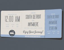 south detroit anywhere train ticket t shirt South Detroit to Anywhere Train Ticket T Shirt