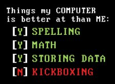 things my computer is better at than me t shirt Things My Computer is Better At Than Me T Shirt from Snorg Tees