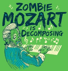 zombie mozart is decomposing t shirt Zombie Mozart is Decomposing T Shirt