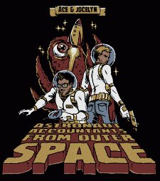 ace jocelyn astronaut accountants from outer space t shirt Jake and Amir Ace and Jocelyn Astronaut Accountants from Outer Space T Shirt from Busted Tees
