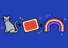 cat plus pastry rainbow t shirt Nyan Cat Plus Pastry Equals Rainbow T Shirt from Snorg Tees